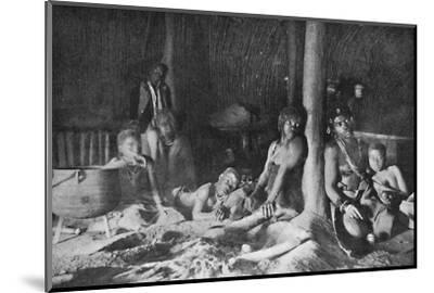 Interior of a Zulu hut, 1912-Unknown-Mounted Photographic Print