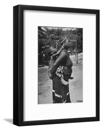 A Zulu woman and child, 1902-Unknown-Framed Photographic Print
