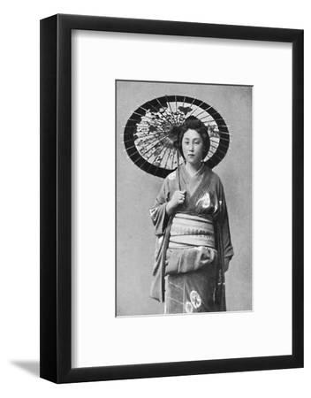 A Japanese lady in walking costume, 1902-Unknown-Framed Photographic Print