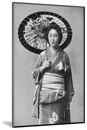 A Japanese lady in walking costume, 1902-Unknown-Mounted Photographic Print