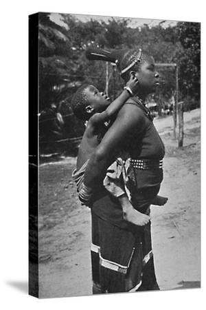 A Zulu woman and child, 1902-Unknown-Stretched Canvas Print