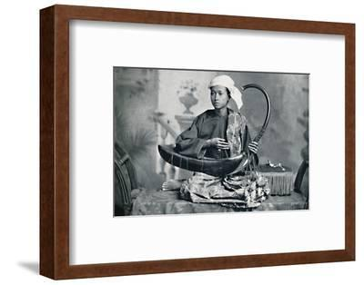 Burmese harp player, 1902-Unknown-Framed Photographic Print