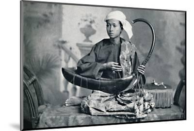 Burmese harp player, 1902-Unknown-Mounted Photographic Print