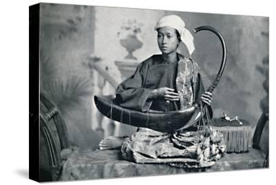 Burmese harp player, 1902-Unknown-Stretched Canvas Print