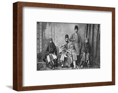 A Persian Parsi family, 1902-Unknown-Framed Photographic Print