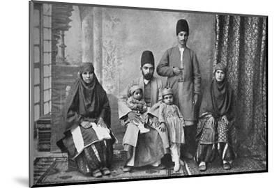 A Persian Parsi family, 1902-Unknown-Mounted Photographic Print