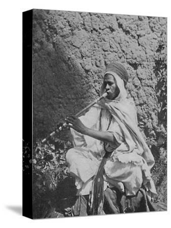 Algerian native flute player, 1912-Unknown-Stretched Canvas Print
