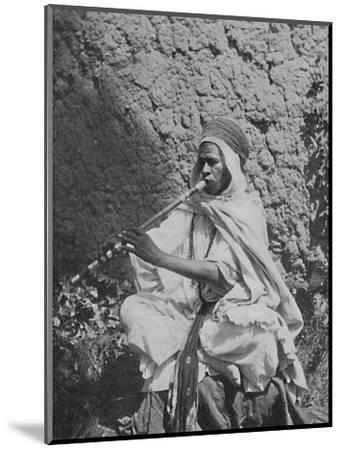 Algerian native flute player, 1912-Unknown-Mounted Photographic Print