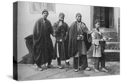 Blind beggars of Tehran, Persia, 1902-Unknown-Stretched Canvas Print
