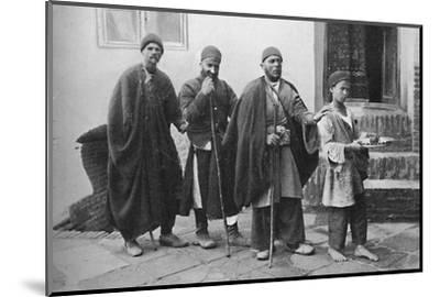 Blind beggars of Tehran, Persia, 1902-Unknown-Mounted Photographic Print