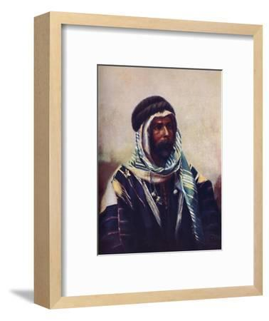 A Bedouin sheikh wearing burnouse, 1902-Unknown-Framed Giclee Print
