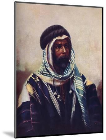 A Bedouin sheikh wearing burnouse, 1902-Unknown-Mounted Giclee Print