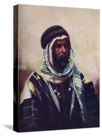 A Bedouin sheikh wearing burnouse, 1902-Unknown-Stretched Canvas Print