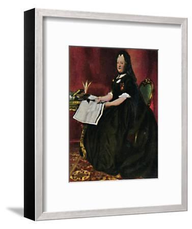 'Kaiserin Maria Therestia 1717-1780. - Gemälde von Maron', 1934-Unknown-Framed Giclee Print