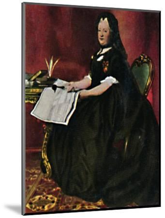 'Kaiserin Maria Therestia 1717-1780. - Gemälde von Maron', 1934-Unknown-Mounted Giclee Print
