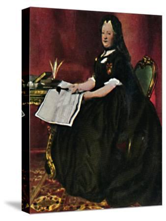 'Kaiserin Maria Therestia 1717-1780. - Gemälde von Maron', 1934-Unknown-Stretched Canvas Print