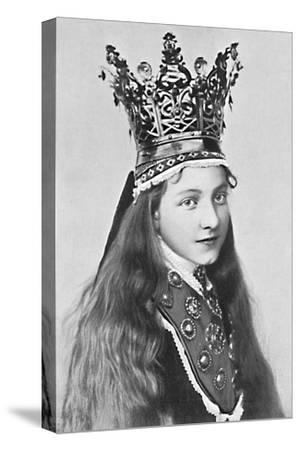 A Norwegian girl in holiday attire, 1912-Solveig Lund-Stretched Canvas Print
