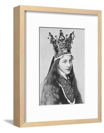 A Norwegian girl in holiday attire, 1912-Solveig Lund-Framed Photographic Print