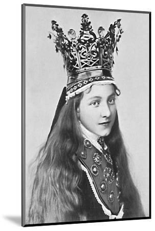 A Norwegian girl in holiday attire, 1912-Solveig Lund-Mounted Photographic Print