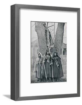 Caucasian soldiers, 1912-Unknown-Framed Photographic Print