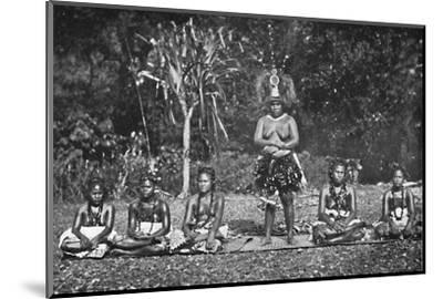 A group of Samoan dancing women in full costume, 1902-Unknown-Mounted Photographic Print