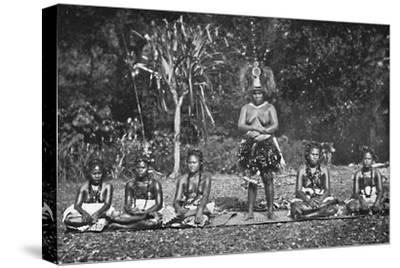 A group of Samoan dancing women in full costume, 1902-Unknown-Stretched Canvas Print