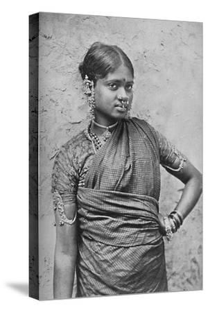 A nautch girl, Madras Presidency, 1902-Unknown-Stretched Canvas Print
