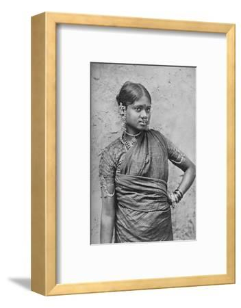 A nautch girl, Madras Presidency, 1902-Unknown-Framed Photographic Print