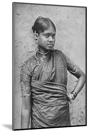 A nautch girl, Madras Presidency, 1902-Unknown-Mounted Photographic Print