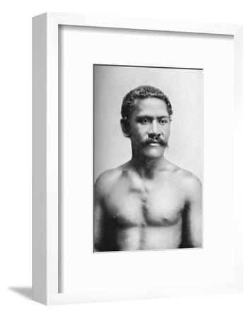 A Samoan chief, Vraila, 1902-Unknown-Framed Photographic Print