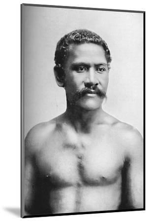 A Samoan chief, Vraila, 1902-Unknown-Mounted Photographic Print