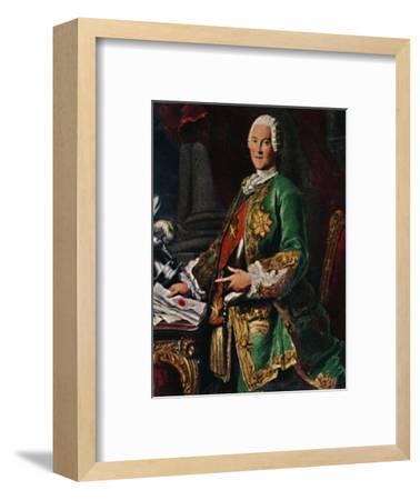 'Graf von Brühl 1700-1763. - Stich nach dem Gemälde von Silvestre', 1934-Unknown-Framed Giclee Print