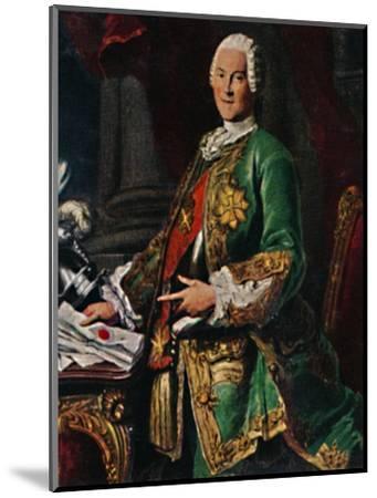 'Graf von Brühl 1700-1763. - Stich nach dem Gemälde von Silvestre', 1934-Unknown-Mounted Giclee Print