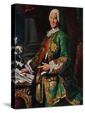 'Graf von Brühl 1700-1763. - Stich nach dem Gemälde von Silvestre', 1934-Unknown-Stretched Canvas Print