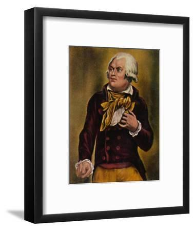 'Danton 1759-1794', 1934-Unknown-Framed Giclee Print