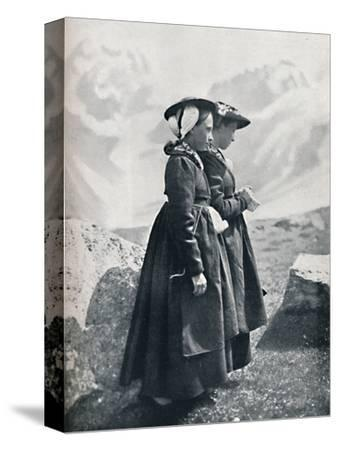 Two Swiss women, 1912-Charles Lefebure-Stretched Canvas Print