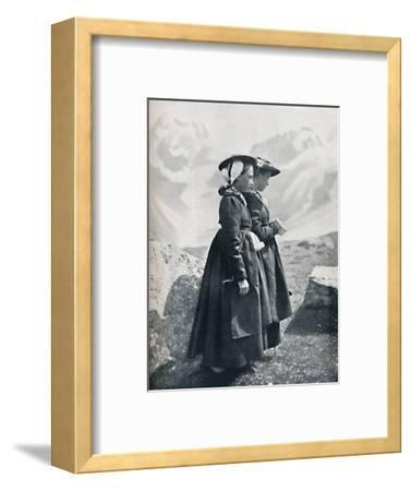 Two Swiss women, 1912-Charles Lefebure-Framed Photographic Print