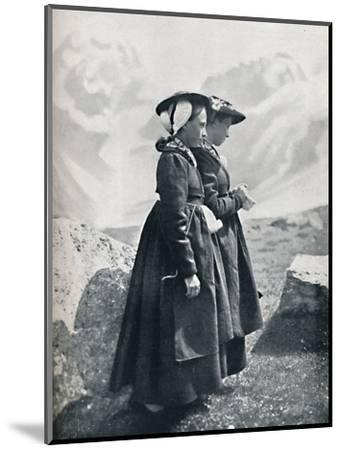 Two Swiss women, 1912-Charles Lefebure-Mounted Photographic Print