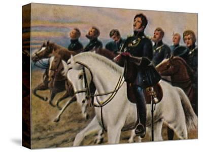 'Theodor Körner 1791-1813. - Gemälde von M. Weese', 1934-Unknown-Stretched Canvas Print