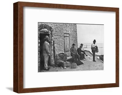 Fishermen, Sheringham, Norfolk, 1912-Unknown-Framed Photographic Print