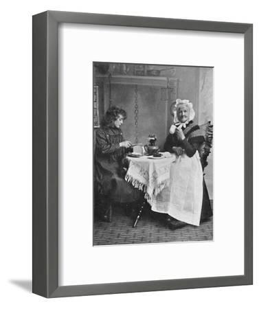 An English cottage scene, 1912-Unknown-Framed Photographic Print