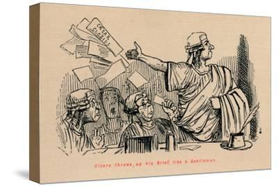 'Cicero throws up his Brief, like a Gentleman', 1852-John Leech-Stretched Canvas Print