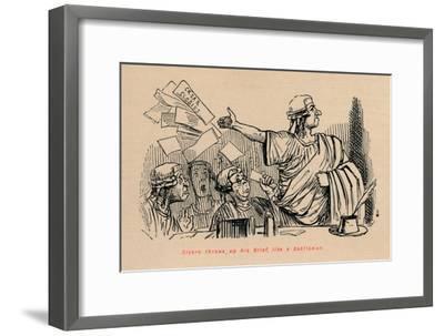 'Cicero throws up his Brief, like a Gentleman', 1852-John Leech-Framed Giclee Print