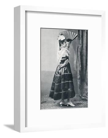 A Spanish dancer, 1912-Unknown-Framed Photographic Print
