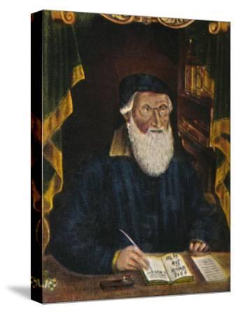 'Hans Sachs 1494-1576. Kupferstich von Hans Weygel', 1934-Unknown-Stretched Canvas Print