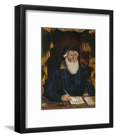 'Hans Sachs 1494-1576. Kupferstich von Hans Weygel', 1934-Unknown-Framed Giclee Print