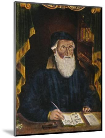 'Hans Sachs 1494-1576. Kupferstich von Hans Weygel', 1934-Unknown-Mounted Giclee Print