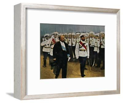 'Poincaré (geb. 1860) und Zar Nikolaus II. 1868-1918', 1934-Unknown-Framed Giclee Print