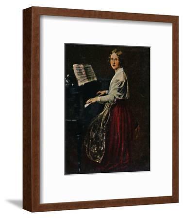 'Jenny Lind 1820-1887. - Gemälde von Asher', 1934-Unknown-Framed Giclee Print