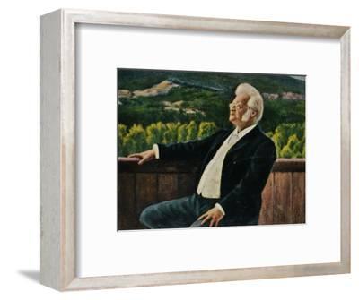 'Björnstjerne Björnson 1832-1910. - Gemälde von Erik Werenskiold', 1934-Unknown-Framed Giclee Print